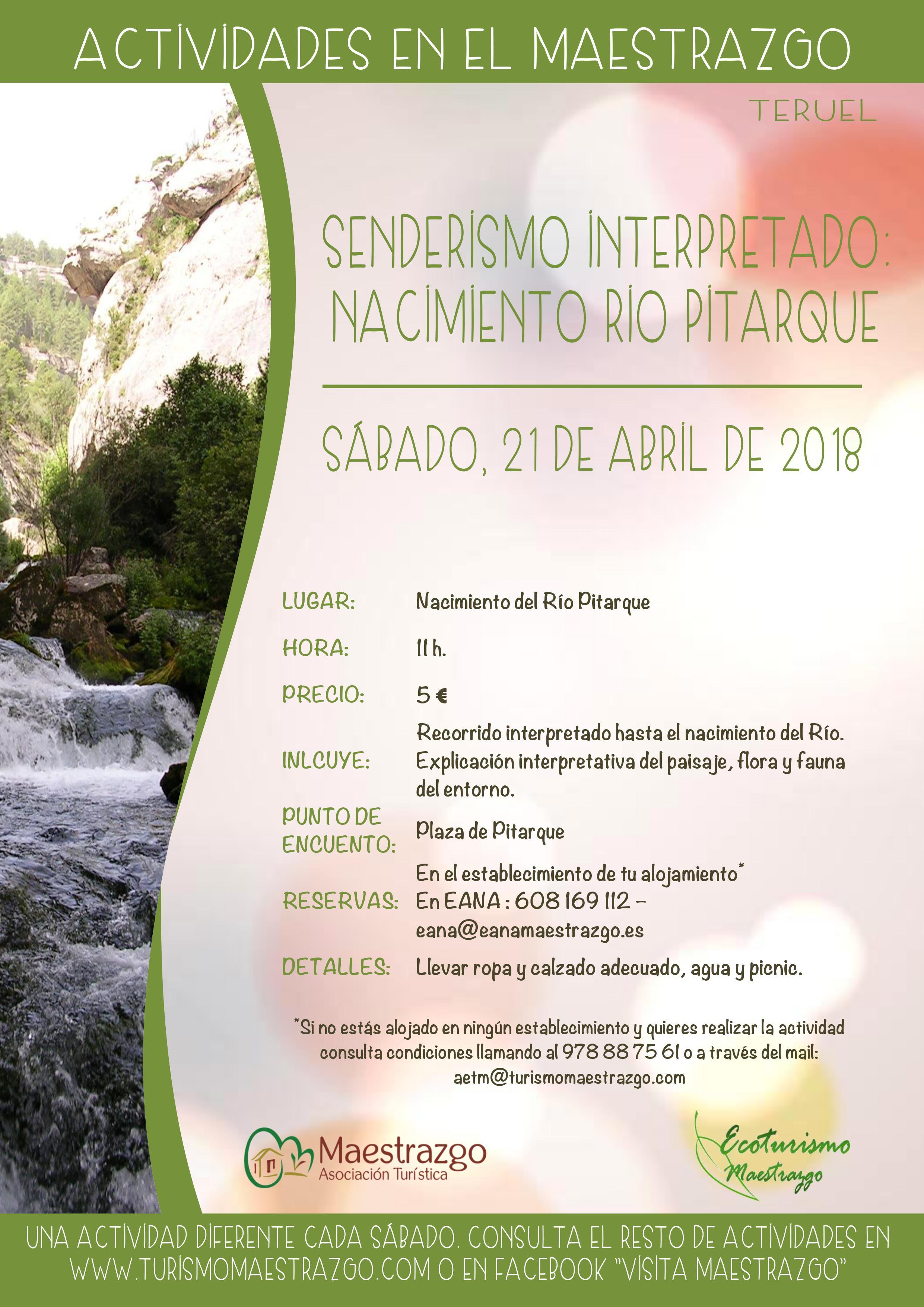 ruta rio pitarque